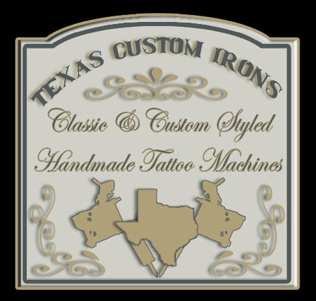 Texas Custom Irons Hlavaty Handmade Tattoo Machines.
